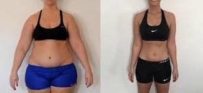 Entrenador personal para perder peso. Antes y después